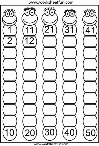 Numbers Missing Worksheets Preschool Counting Number Math