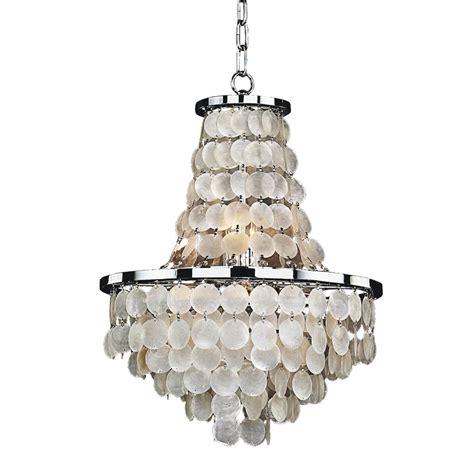 shell chandeliers glow lighting bayside 8 light capiz shell and chrome