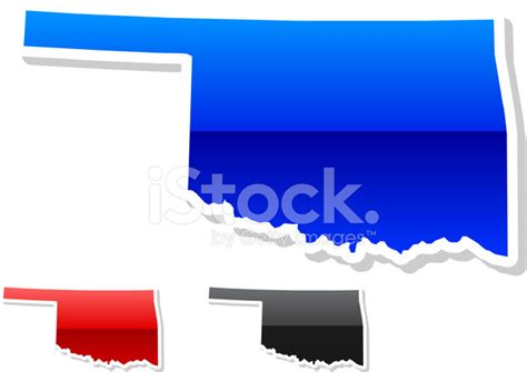 oklahoma state colors oklahoma state in 3 colors stock vector freeimages