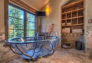 salle de bain rustique 100 idees deco salle de bain With salle de bain design avec fruits décoratifs artificiels