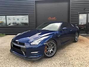 Occasion Nissan Gtr : nissan gt r r35 3 8 bi turbo 530 ch coup bleu fonc occasion 75 900 43 200 km vente de ~ Gottalentnigeria.com Avis de Voitures