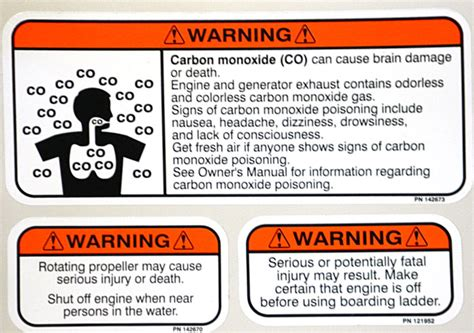 Yamaha Jet Boat Warning Sticker by Waverunner Warning Stickers Satu Sticker