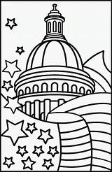Presidents Coloring Pages Capital sketch template
