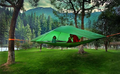 Camp In The Air New Suspended Treehouse Tents And