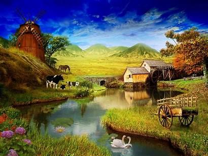 Farm Spring Desktop Wallpapers Landscape Country Summer