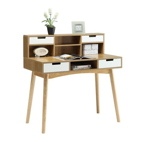 light oak computer desk oslo light oak computer desk with hutch convenience