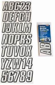 silver black boat lettering registration numbers 800 With adhesive letters for boats