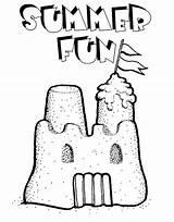 Sand Castle Coloring Play Printable Preschool Getdrawings Getcolorings sketch template