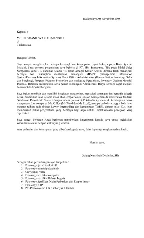 contoh surat lamaran kerja di bank ben jobs