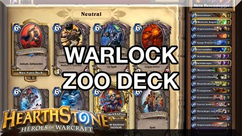 hearthstone warlock zoo deck guide german hd youtube