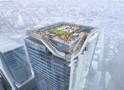 viewing deck design sanaa kengo kuma plan shibuya skyscraper for tokyo