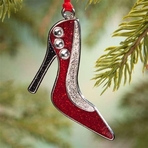 high heel shoe ornament shoe christmas ornament miles kimball
