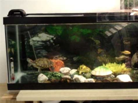 eared slider tank res red eared slider turtle aquarium basking area habitat done how to save money and do it