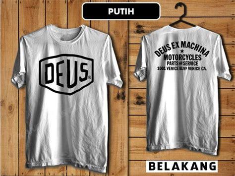 jual deus ex machina motorcycles part and service kaos t shirt warna putih di lapak km cloth