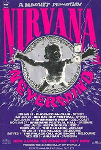 20 awesome gig poster designs nirvana concert poster