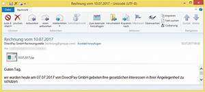 Gmx Rechnung : rechnung vom von directpay gmbh rechnungsstelle rechnung vorsicht e mail ~ Themetempest.com Abrechnung