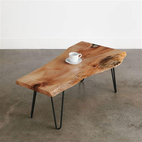 maple coffee table elko hardwoods modern  edge