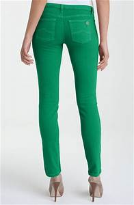 Michael Michael Kors Color Skinny Jeans in Green (kelly green) | Lyst