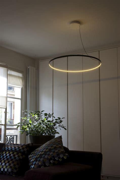 Le Cercle Led by Suspension Circle Led 216 80 Cm Noir Le Deun