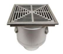 41630 josam 41630 series stainless steel 304 floor drain 12 quot x 12 quot square top by stainless