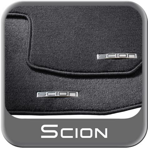 2011 2013 scion tc carpeted floor mats black w logo