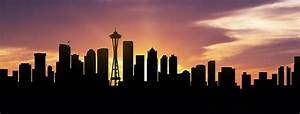 Seattle Skyline Panorama Sunset Photograph by Aged Pixel