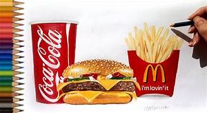 Speed Drawing: McDonald's menu [Time lapse] - YouTube