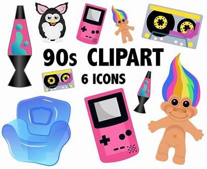 90s Clipart Retro Icons 1990s Theme Printable