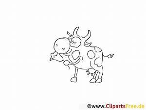 Lustige Kuh Ausmalbild