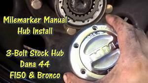 Milemarker Manual Locking Hub Install - 80