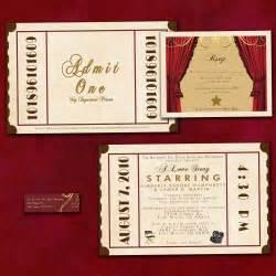 ticket wedding invitations antique theatre ticket custom wedding invitation sle