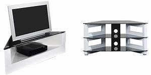 Meuble D Angle Moderne : meuble d angle design tv tele laque blanc maisonjoffrois ~ Teatrodelosmanantiales.com Idées de Décoration