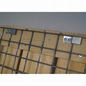 Kit A Gabion : clips de fixation pour lames bois sur banc en gabions ~ Premium-room.com Idées de Décoration
