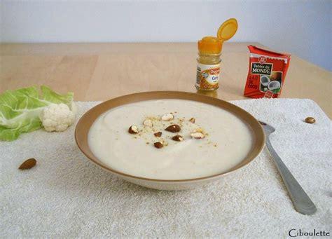 utilisation du lait de coco en cuisine velouté de chou fleur au curry au lait de coco
