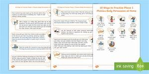 10 Ways To Practise Phase 1 Phonics Body Percussion At