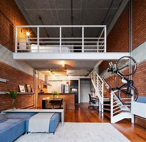 Modern, Loft, With, A, Beautiful, And, Practical, Design