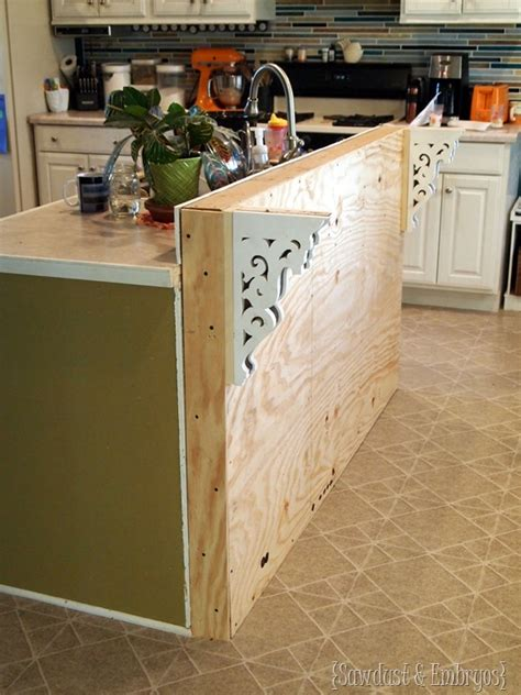 how to build a kitchen island bar diy corbels for a breakfast bar daydream
