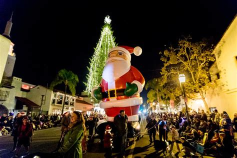 Santa Barbara Lights Up With Holiday Cheer At Downtown