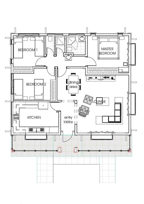 Small House Design With 3 Bedroom by House Plans A Concise 3 Bedroom Bungalow
