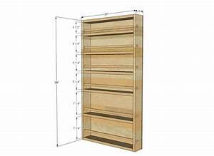 Wooden Door mounted spice rack plans Plans PDF Download