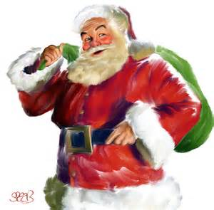 santa claus painting by mark spears