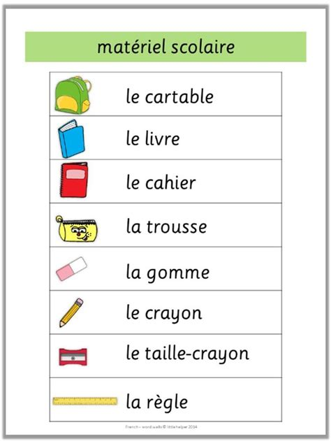 French Word Walls Basic Vocabulary   French words, Learn ...