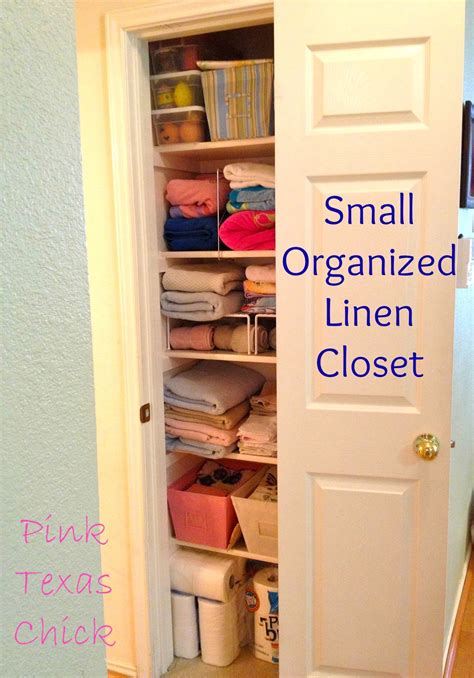 organized linen closet finally