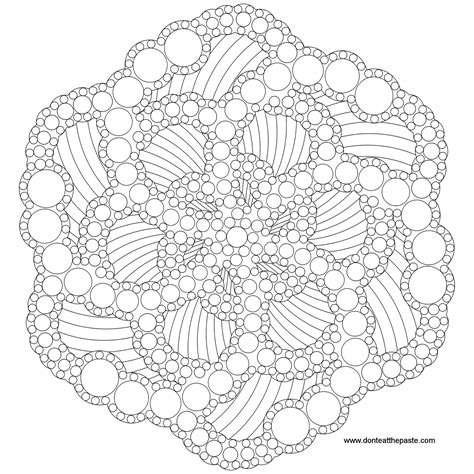 dot painting templates don t eat the paste dots mandala to color
