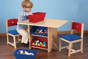 Table Enfant Avec Rangement : petite table de rangement pour enfant en bois naturel kidkraft ~ Melissatoandfro.com Idées de Décoration