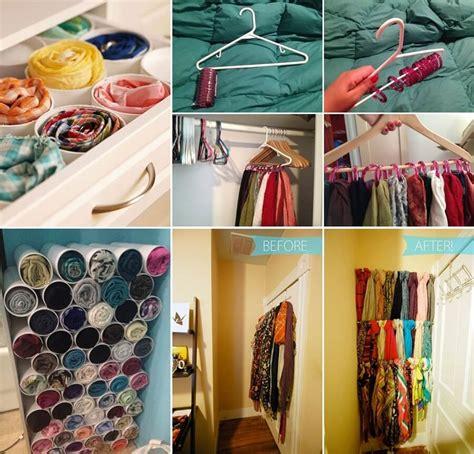clever hacks  organize  scarves