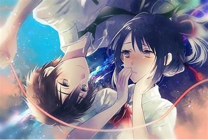 Kimi Wa Na Mitsuha Taki Anime Background