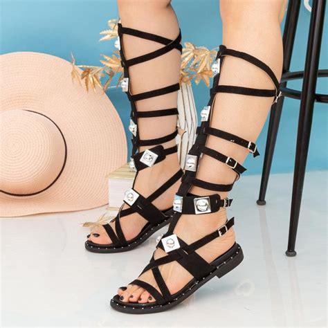 Sandale Dama Gladiator QZL252X Black (D26) Mei