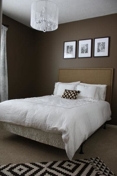 brown colored walls contemporary bedroom behr mocha
