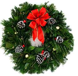 live 26 quot shiny bright fraser fancy designer wreath plants beautiful